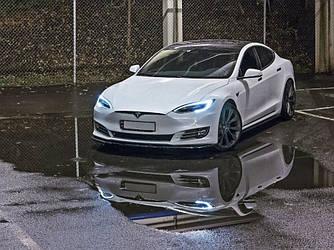 Диффузоры порогов юбка элерон накладки тюнинг Tesla Model S рестайл