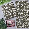 Постельное белье двуспальное вензель коричневого цвета