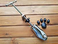 Колодка для растяжки обуви металлическая полированная женская