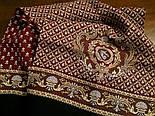 Брызги шампанского 639-6, павлопосадский шарф (кашне) шерстяной  двусторонний мужской с осыпкой, фото 4
