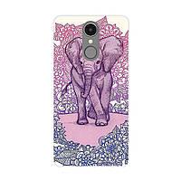 Чехол с рисунком Printed Silicone для LG K10 2017 M250 Слон