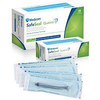Стерилизационные пакеты Medicom SafeSeal Quattro, 89 x 133 мм, 200 шт. х 5 уп., фото 1