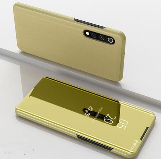 Чехол-книжка Mirror для Xiaomi Mi 9 Зеркальная Золотой