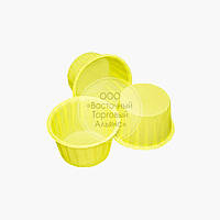 Форма бумажная усиленная - Жёлтая - Ø50 мм