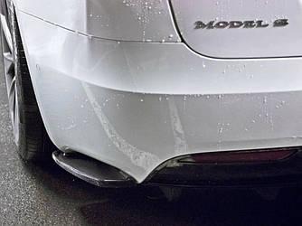 Боковые клыки Tesla Model S тюнинг диффузор обвес заднего бампера
