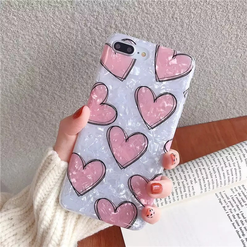 Чехол для Apple IPhone 6/ 6s силикон мраморный сердце