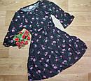 Стильное черное платье в цветочек рукав 3/4 Old Navy (США) (Размер 10-12Т), фото 2
