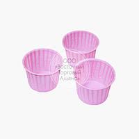 Форма бумажная усиленная - Розовая - Ø50 мм
