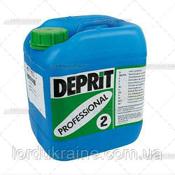 ДЕПРИТ ПРОФ 2 - Средство для удаления пятен от краски, жира, масла, ваксы, косметики, чернил, клея, 5 л