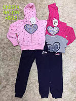 Трикотажный костюм 3 в 1 для девочек оптом, S&D, 98-128 см,  № CH-5514