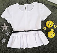 Блуза на девочку, р. 122-140, белый
