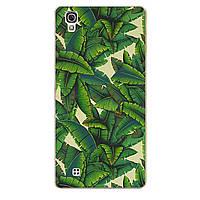 Чехол с рисунком Printed Silicone для LG X Style K200DS Пальмы