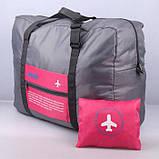 Вместительная дорожная сумка для ручной клади или багажа, складывается в мешочек, фото 6