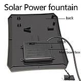 Фонтан на солнечной батарее со встроенной аккумуляторной батареей и LED подсветкой, фото 5