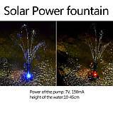 Фонтан на солнечной батарее со встроенной аккумуляторной батареей и LED подсветкой, фото 7