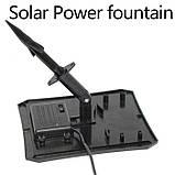 Фонтан на солнечной батарее со встроенной аккумуляторной батареей и LED подсветкой, фото 8