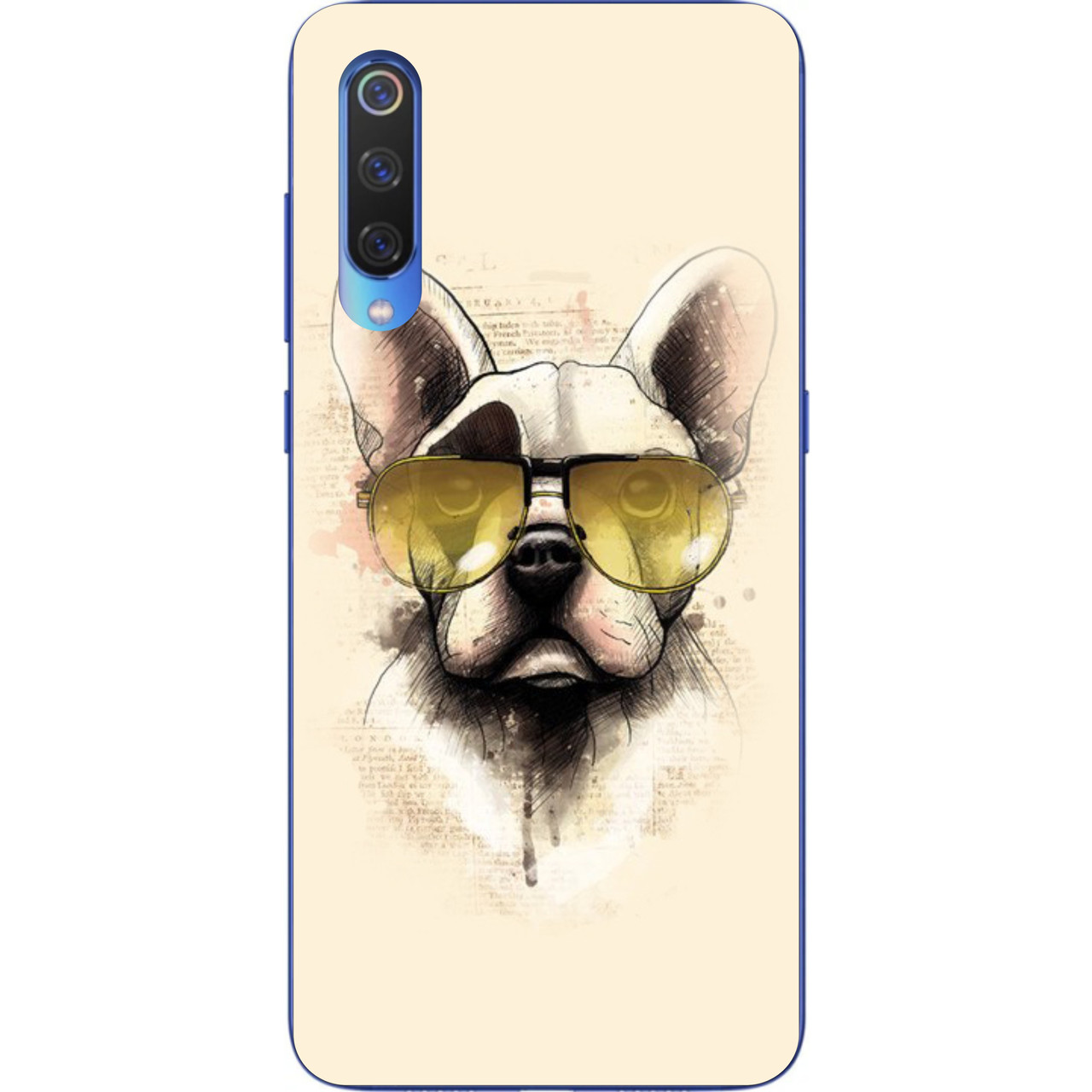 Силиконовый чехол для Xiaomi Mi 9 SE с картинкой Пес в очках