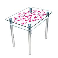 """Стіл скляний кухонний з полицею """"Простір"""", фото 1"""