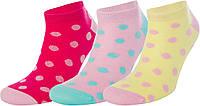 Брендовые детские для девочки носки для спорта и школы, фирма Demix, комплект 3 пары