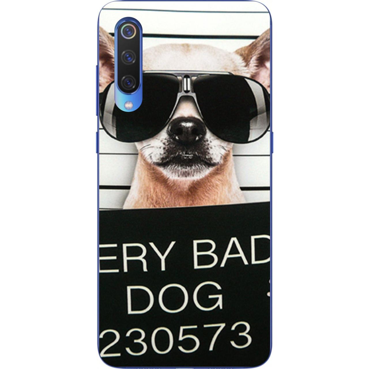 Силиконовый чехол для Xiaomi Mi 9 SE с картинкой Bad Dog