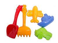 Детский песочный набор: лопатка, грабли, три пояса 1005