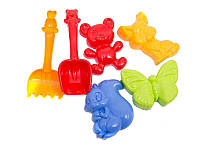 Детский песочный набор: лопатка, грабли, четыре большие паски