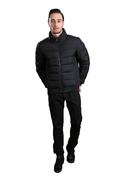 Короткая зимняя мужская куртка черная Hermzi 48-58р