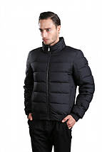 Короткая зимняя мужская куртка черная Hermzi 48-58р, фото 3