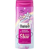 Balea Kids Dusche & Shampoo Shining Star детский гель для душа и шампунь Блестящая звезда 300 мл