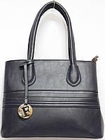 Женская деловая сумка цвет темно-синий, фото 1