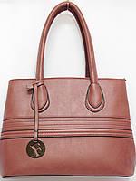 Женская деловая сумка цвета пудра, фото 1
