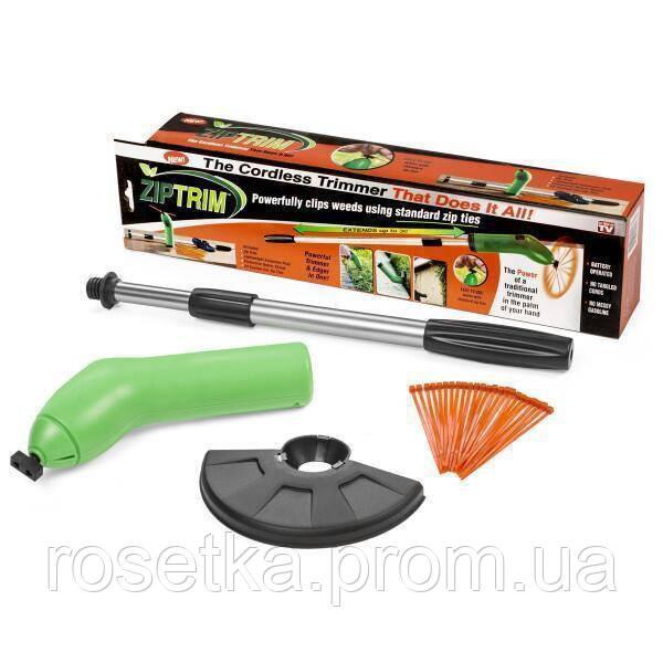 Портативний тример для садового декору Zip Trim, ручна бездротова газонокосарка для трави Зип Трим