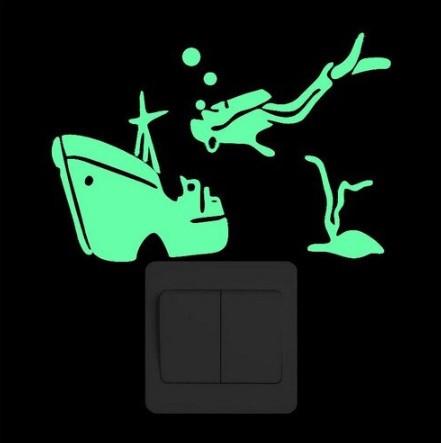 """Наклейка светящийся """"Подводный мир"""" - 15*10см"""