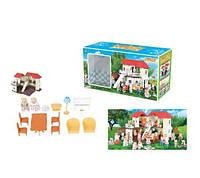 Игровой набор животные флоксовые happy family с домиком