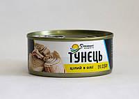 Консерва Домашні продукти 150г Тунець цілий в олії