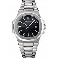 Часы Patek Philippe Nautilus 41mm silver/black. Replica: ААА.