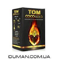 Натуральный кокосовый уголь для кальяна Tom Cococha Gold (Том Кокоча)  1кг 72куб 25*25мм
