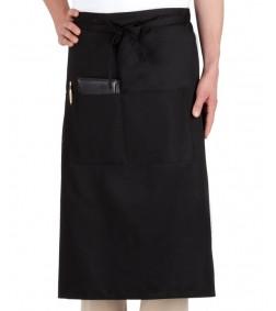 Фартук для официанта, бармена классический черный 75 см Atteks - 00099