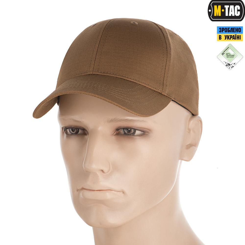 M-Tac Бейсболка Elite Flex ріп-стоп койот темний