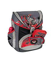 Ранец ортопедический облегченный с наполнением 5 предметов DerDieDas Ниндзя-Байкер 8405091