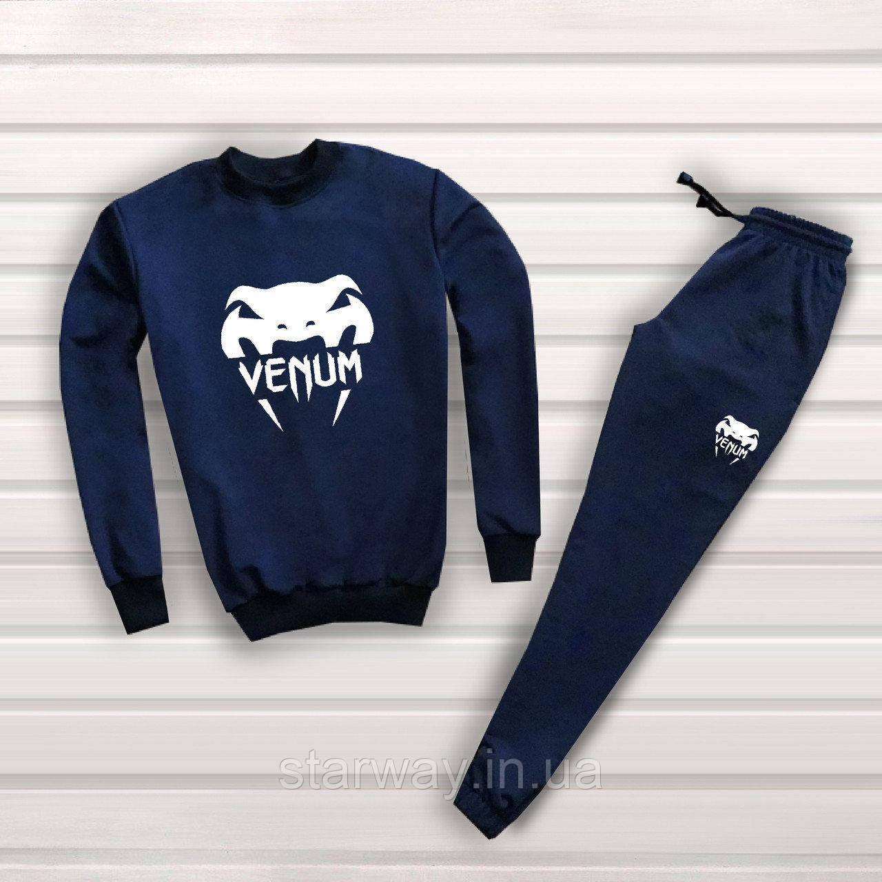 Мужской темно синий спортивный костюм Venum топ | big logо