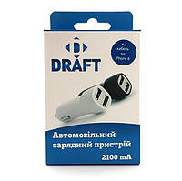 АЗУ Draft CC21- 2 Usb 2,1A white + data cable iPhone 6