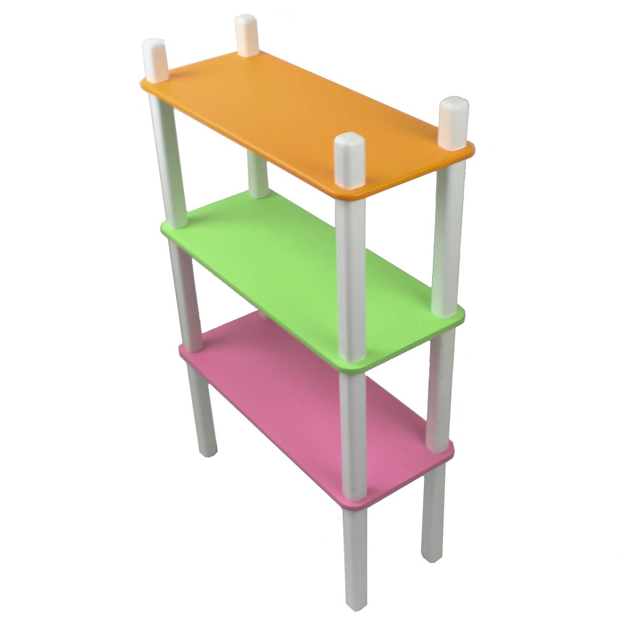 Дитячий стелаж - полку Woody, 3 полиці, кольоровий