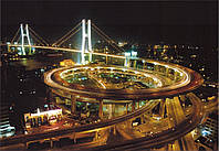 Фотообои Ночной мегаполис № 6-136*196 см