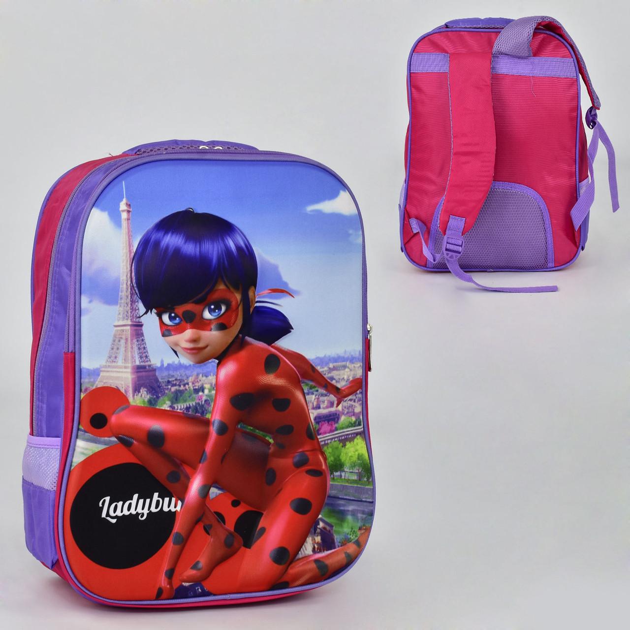 Школьный рюкзак Леди Баг  (2 отделения, 2 кармана, мягкая спинка)