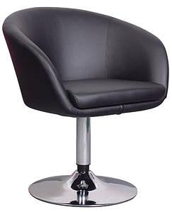 Кресло Мурат НЬЮ, экокожа, хромированное, цвет черный