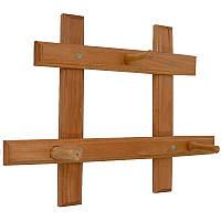 Настенная вешалка из дерева для одежды, фото 1