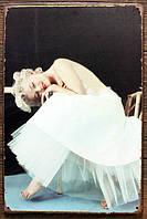 Ретро табличка металлический постер Marilyn Monroe