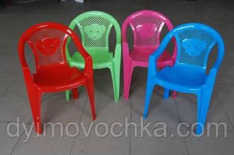 """Дитячий пластиковий стілець-крісло """"Тигреня"""" 25-031 Kinderwey, 55х33х30 см, 4 кольори"""