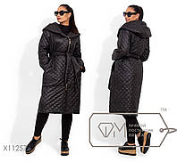 Женское  стеганое пальто на молнии Большие размеры Батал